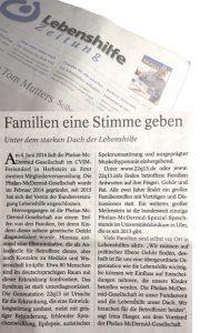 Artikel: Familien eine Stimme geben